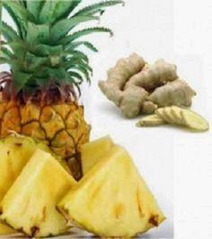 Gelo de abacaxi e gengibre leva à perda de até 5 quilos por mês - Esta receita é…
