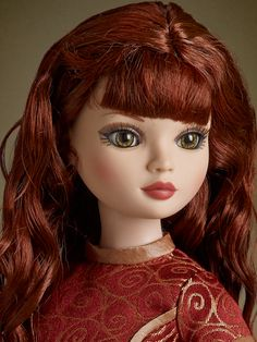 """Ellowyne """"Brrooties"""" with wigged chestnut mane and green inset eyes - 2015 Mainline Release 1/14/15 