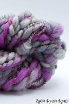 African Violet CoilSpun BeeHive Art Yarn mohair by SpinSpanSpun, $34.00