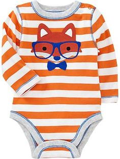 Animal-Graphic Bodysuits for Baby Why does Old Navy not have a baby registry?!? They have the best baby boy clothes !!!!!