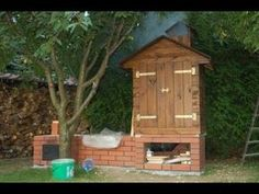 Коптильня - Smokehouse made of bricks and wood - YouTube