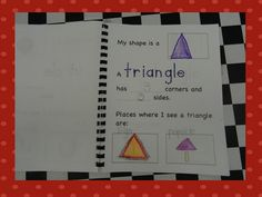 shapes in math journals...this would have been perfect for last week