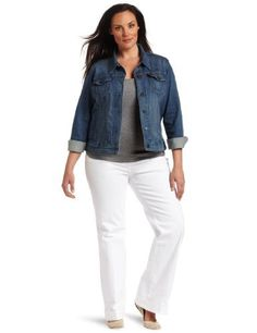 Levi's Women's Trucker Jacket, Vintage Blue, 3X Levi's. $39.36. Updated fit elongates body and defines waist. 100% cotton. Made in Afghanistan. Sits at natural waist. Machine Wash. Save 39%!