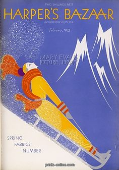 Add a touch of style to your home with this wonderful vintage Harper's Bazaar cover reproduction poster, printed on premium satin paper. Art Deco Paintings, Art Deco Artists, Man Ray, Art Nouveau, Christmas Cover, 23 November, Vintage Magazines, Vintage Travel Posters, Harpers Bazaar