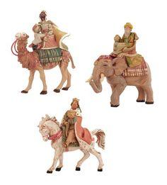 "$173.00-$0.00 3-Piece Fontanini 5"" Three Kings On Animals Christmas Nativity Set #65244 -  http://www.amazon.com/dp/B00299WC2O/?tag=pin2wine-20"