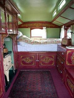 We could definitely live in this when we hit the road. :) Glam gypsy Caravan