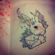 cute jackalope with love letter
