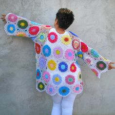 Plus Size Handcrocheted Tunic / sweater XXL...XXXL  by kovale, $229.00