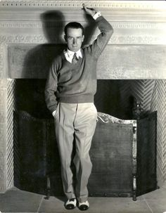 Harold Lloyd // He did all his own stunts, check him out.