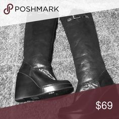Michael Kors boots Gently worn wedge heel knee high boots KORS Michael Kors Shoes Winter & Rain Boots