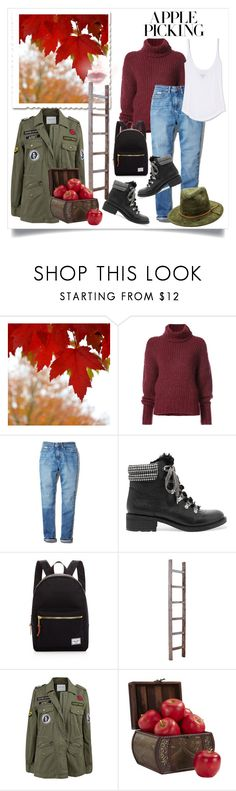 """""""An Apple A Day"""" by onesweetthing ❤ liked on Polyvore featuring BY. Bonnie Young, Calvin Klein, Sam Edelman, Herschel Supply Co., Velvet by Graham & Spencer and Nearly Natural"""