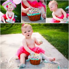 This is a must for Harper's 1st birthday pictures.  The pettiskirt I love is perfect for this photoshoot.