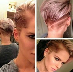 Trendy Shaved Haircuts for Short Hair - Short Straight Hairstyles 2016