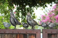 California Quail Family metal art sculpture for the garden, bird garden art, 3D sculpture, made in the USA