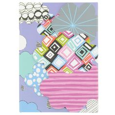 clouds A6 die cut notebook from Paperchase