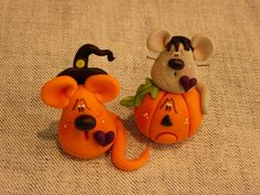 Polymer Clay Halloween Mice Set by ClayBabiesInc on Etsy, $14.95
