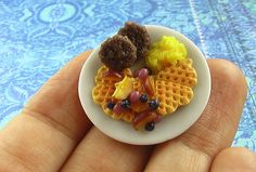 Taste the (Waffle) Rainbow in Perfect Plums- 1/12 scale by theMouseMarket.com