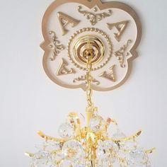 Monogrammed Home Decor, Marie Ricci Ceiling Medallions