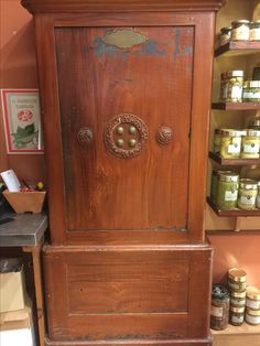 Beautiful Mahogany graining in a shop in Carcassonne
