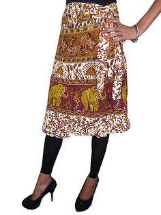 Boho Indi Wrap Around Skirt Elephants Printed Beach Boho Wraps Dress Beach Wrap Skirt, Wrap Around Skirt, Skirt Fashion, Fashion Outfits, Ethnic Fashion, Bohemian Fashion, Gypsy Skirt, Boho Skirts, Elephant Print
