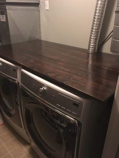 An updated new laundry room and steps I took to make a small space work with all the things I needed. Laundry Room Remodel, Basement Laundry, Unfinished Laundry Room, Small Basement Bedroom, Small Basements, Small Spaces, Home Appliances, Closure, Diy