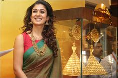 Nayantara. Nice Saree and Sleeveless Saree Blouse