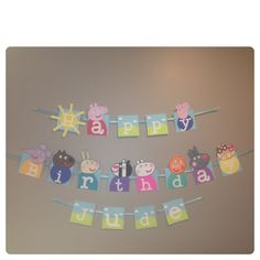 Peppa pig, boy peppa Pig party, banner, bunting, happy birthday, off to Alabama