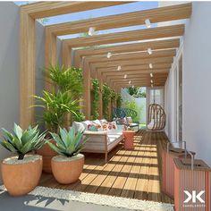 Small Balcony Decor, Balcony Design, Patio Design, House Construction Plan, Outdoor Walls, Outdoor Decor, Design Exterior, Outside Living, Garden Landscape Design