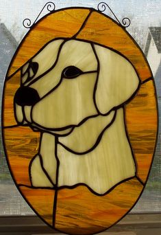 Stained glass Labrador Retriever designed and created for my brother.
