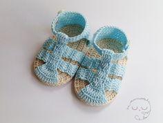 Sandalias de ganchillo para bebé de Mussolets en Etsy
