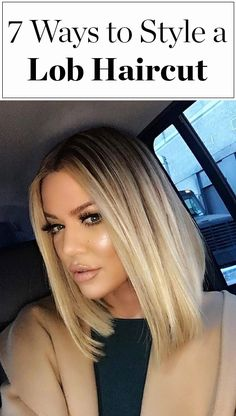 How to style a bob or lob haircut, inspired by Khloe Kardashian