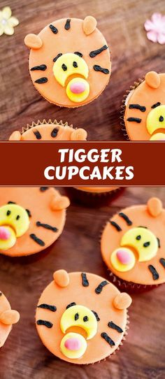 Tigger Cupcakes are super fun to make and the most adorable cupcake ever! Perfect for a Christopher Robin movie night or theme party!