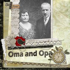 Oma & Opa  Great idea to use what they were called as title, not everyone is called Grandmother and Granddaddy