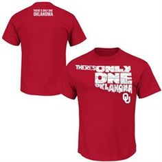 Majestic Oklahoma Sooners Crimson 2015 There's Only One Oklahoma Student T-Shirt