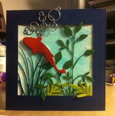 Koi Bubbles: Memory Box, Impression Obsession, Spellbinders and Dee's Distinctively dies