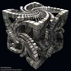"""""""Cubik Olympic"""" by the late Dirk (D.C.) Monteny motion graphic effects by George RedHawk"""