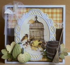 Wykrojnik - Marianne Design - Barrel - beczka Na-Strychu Square Card, Bird Cards, Marianne Design, Paper Frames, Fall Cards, Beautiful Birds, Your Cards, Stuff To Do, Craft Projects