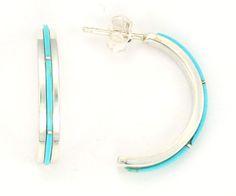 Roel Lahi Turquoise Hoop Earrings
