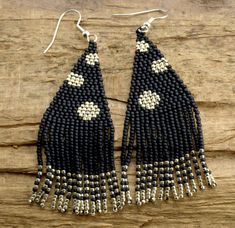 This sweet Beaded Bead Earrings are handmade of high quality japanese seed beads Toho size Length: 8 cm Width: cm Beaded Tassel Earrings, Seed Bead Earrings, Fringe Earrings, Earrings Handmade, Seed Beads, Dangle Earrings, Brick Stitch Earrings, Bead Crochet, Hippie Boho