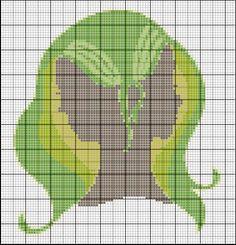 Borduurpatroon Sterrenbeeld Kruissteek *X-Stitch Pattern Zodiac ~Serie 2-6: Tweelingen 22 mei/21 juni *Gemini~
