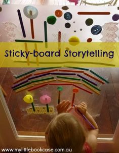 Use a stickyboard as stimulus for story-telling_ My Little Bookcase