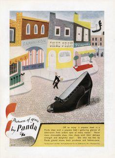 Lewitt Him illustration for Panda Shoes