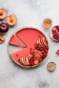 Plum and vanilla custard tart with buckwheat oat crust (vegan, gluten-free & refined sugar-free) | nm_meiyee