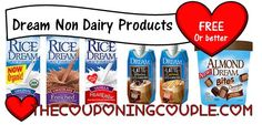 There are some great deals for Free Dream Non Dairy Products at Publix, Walmart, and Whole Foods. If you shop those stores, get a freebie!  Click the link below to get all of the details ► http://www.thecouponingcouple.com/free-dream-non-dairy-products-super-deals-at-publix-whole-foods-walmart/  #Coupons #Couponing #CouponCommunity