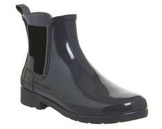Hunter Original Refined Chelsea Rubber Boots – Dark Slate Grey