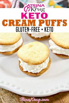 The perfect melt in your mouth healthy keto dessert. These keto cream puffs are everything you want and nothing you don't, so enjoy guilt free! Are you like me and simply LOVE cream puffs? If there is a dessert table full of treats, I will always gravitate towards the cream puffs if they have them, especially if they are KETO cream puffs! | Trina Krug @trinakrug #ketocreampuffs #glutenfreecreampuffs #ketodesertrecipes #easyketodesserts #ketopartydesserts #trinakrug Keto Desert Recipes, Free Keto Recipes, Low Carb Recipes, Dessert Recipes, Ketogenic Recipes, Keto Foods, Keto Snacks, Ketogenic Diet, Easy Gluten Free Desserts