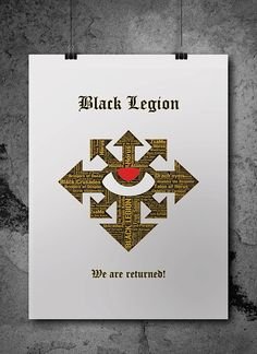 Black Legion Heresy Warhammer 40K Printable Poster  by ZsaMoDesign