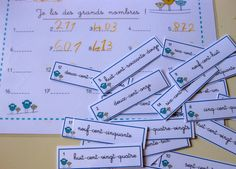 """CE1  - """"Je lis des grands nombres""""  nombres à 3 chiffres French Classroom, 4th Grade Math, Grade 2, Math Numbers, Cycle 3, Teacher Organization, Elementary Math, Numeracy, Kids Learning"""