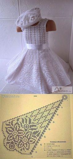 liveinternet.ru [] # # #Crochet #Baby, # #Crochet #Patterns, # #Baptism, # #Knit #Dresses, # #Bebe, # #Blouses