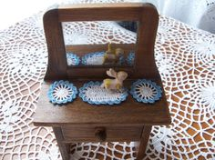 Miniature ooak Crochet dollhouse doilies 2 round by picotlace60, $5.00